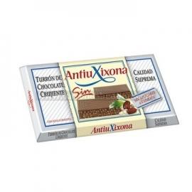 """Turrón Crujiente sin azúcares añadidos """"AntiuXixona"""" 200 gr."""