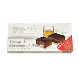"Nogado Whisky Chocolate Sem Açúcar ""Pico"" 200 gr."