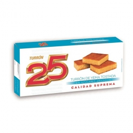 "Toasted yolk nougat with no added sugars ""25"" 200 gr."