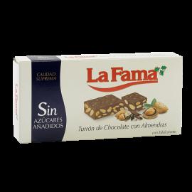 """Nougat de Chocolate com Amêndoas Sem adição de açúcares 200 gr. """"La Fama"""""""
