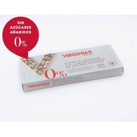 Turrón Sin Azúcar de Chocolate con Almendras Virginias 200 gr.