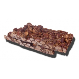 Caramelized Almond Nougat 300 gr. 2 Tablets with sesame