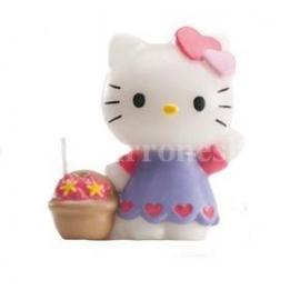 "Vela de Cumpleaños ""Hello Kitty Flores"""