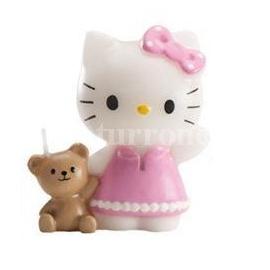 "Vela de Cumpleaños ""Hello Kitty Osito"""